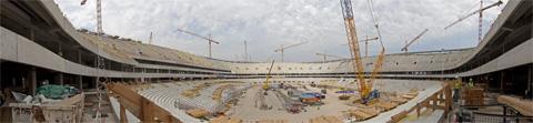 Panorama Stadionu Narodowego w Warszawie - 13.08.2010