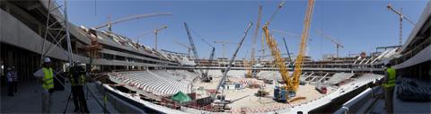 Panorama Stadionu Narodowego w Warszawie - 11.06.2010